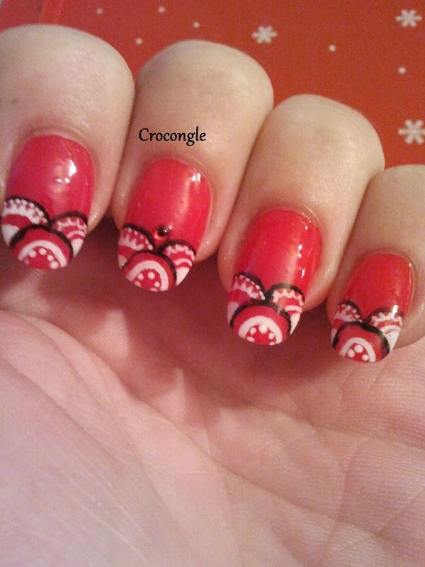 nail art tapisserie de noël Crocongle