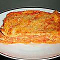 Lasagnes au jambon et sauce ricotta poivrons doux (avec pâtes fraîches maison)