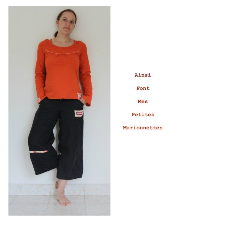 tunique orange carreaux 6