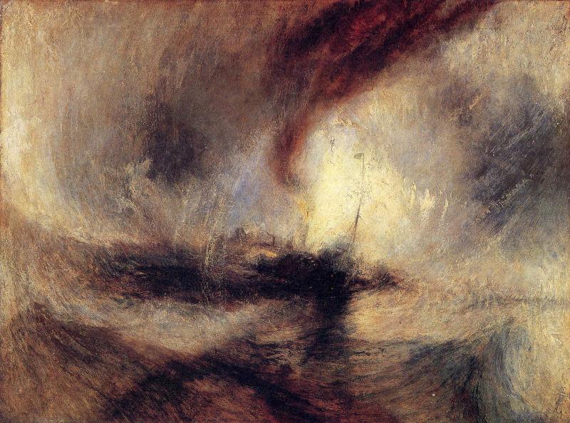 05. TURNER, Tempête de neige, 1842.