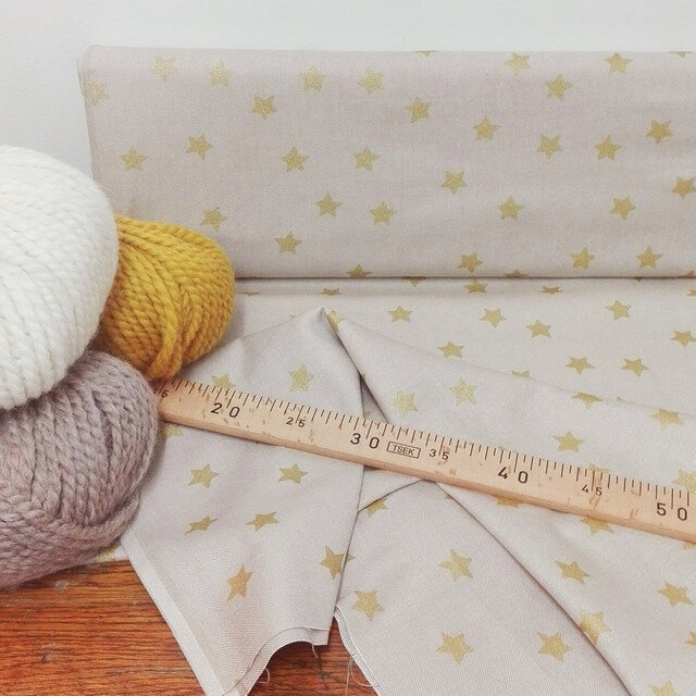 Tissu coton imprimé étoiles
