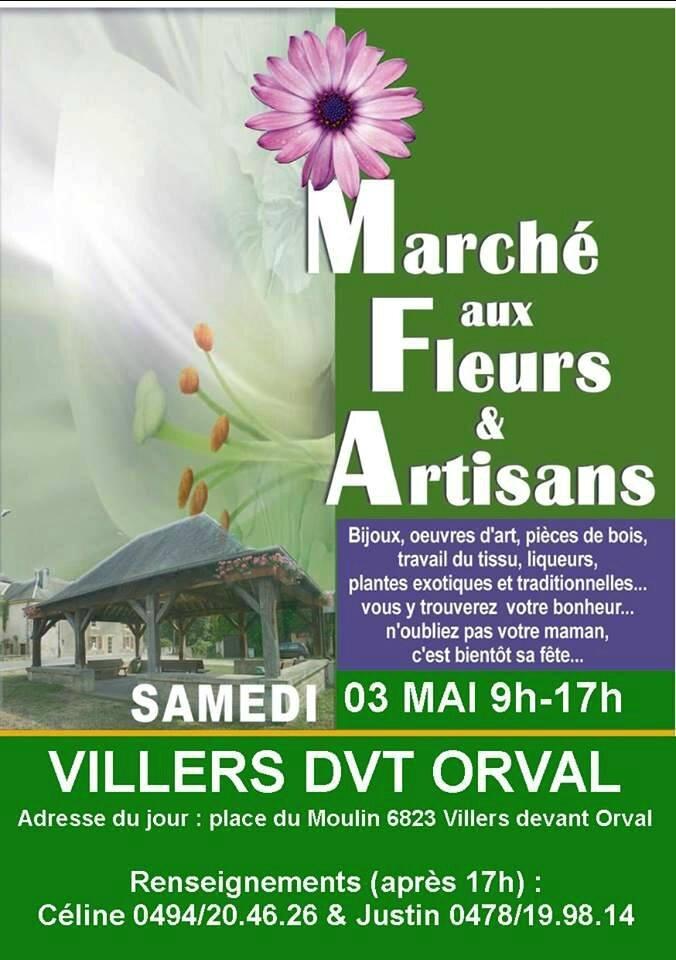 Affiche marché Fleurs 2014 samedi 3 mai