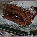 Gâteau roulé à la confiture de griottes