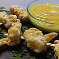 Tempura de moules - mayonnaise au curry