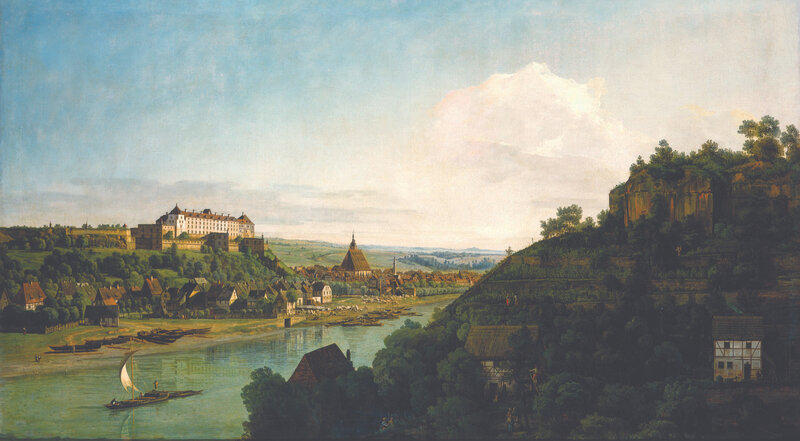Pirna from the Postaer Höhe