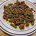 Sauté de légumes au boeuf haché