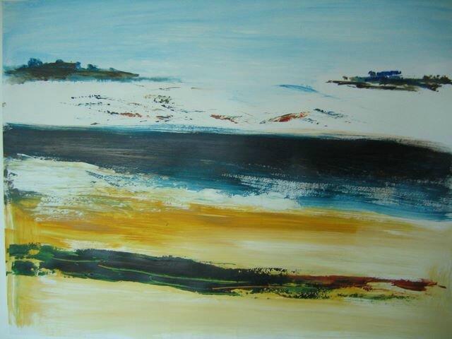 01 - Acrylique sur papier marouflé sur toile - 65 x 50 cm