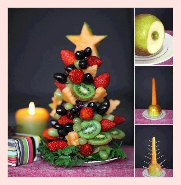 creative-holiday-food-ideas-diy-christmas-fruit-tree-with-fresh-fruits-taze-meyvelerden-yilbasi-agaci-yapimi-yaratici-yilbasi-ikramlari
