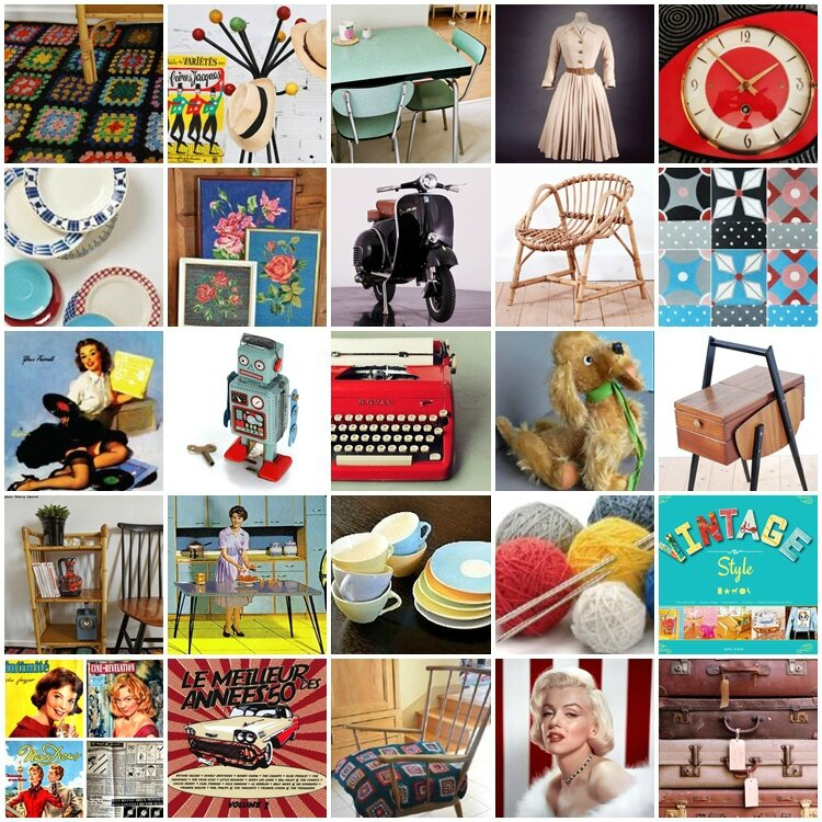 planche tendance_années 50_vintage_ Lady Green_expo C&S 2014_vitrine_ allées de l'inspiration_4 Droles de Dames