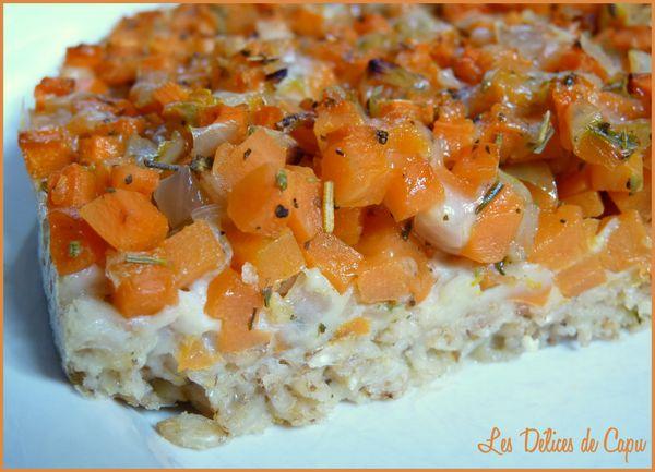 tarte moelleuse aux flocons d'avoine et aux carottes1