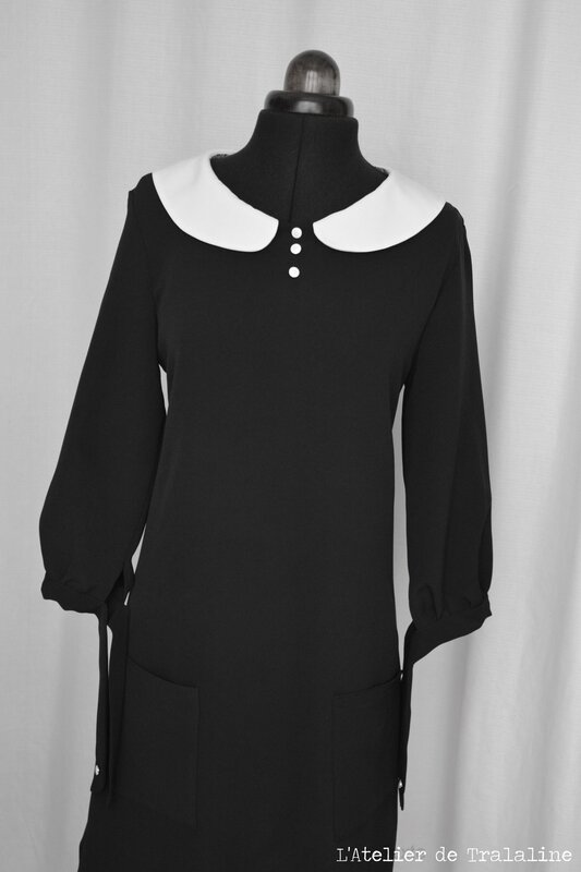 Tralaline robe col claudine (15)