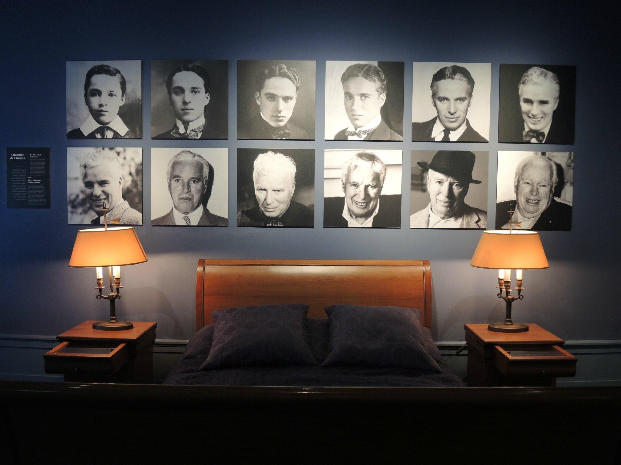 Corsier-sur-Vevey, Chaplin's world, maison musée, la chambre (Suisse)