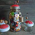 Jar Pincushion - pique aiguille