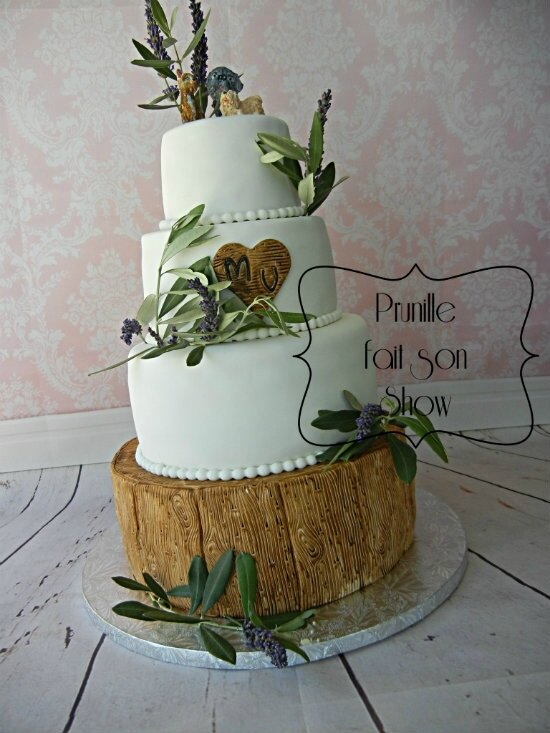 wedding cake nature lavande olivier bois prunillefee 4