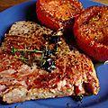Steak de thon rouge a la tomate