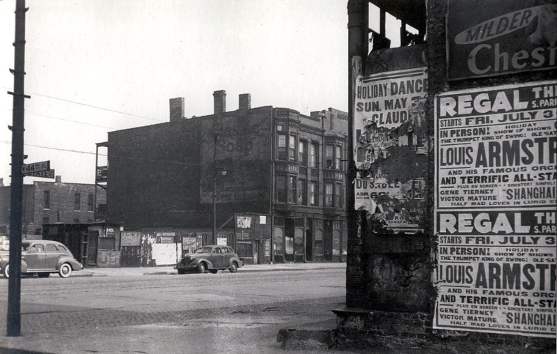 Southwest corner of 44th Place and State Street in 1941