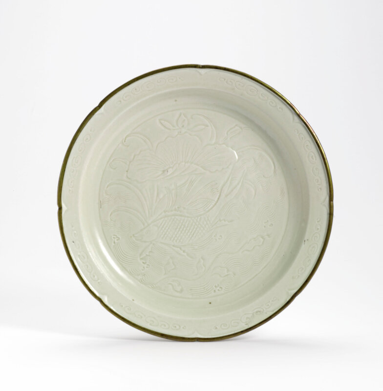 A carved 'Ding' dish, Song dynasty (960–1279)