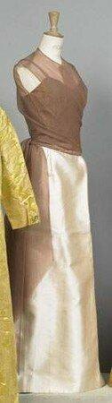 BALENCIAGA, haute couture, n 90936, circa 1960 - Robe du soir lo
