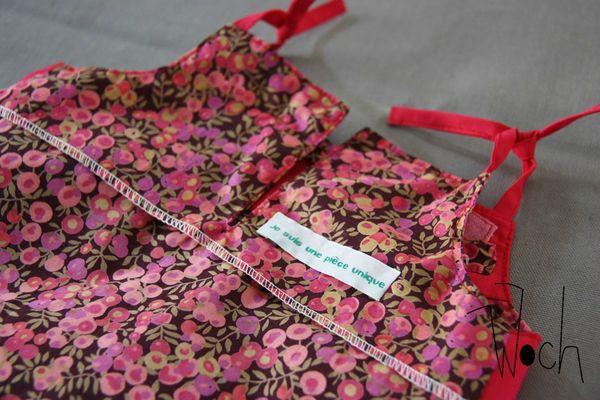 Robe à bretelles rose et Liberty Woch 5