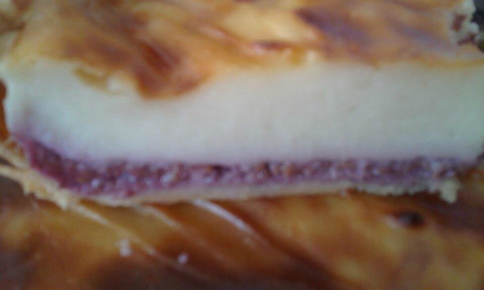 Flan pâtissier framboises & citron