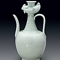 A very rare carved Qingbai 'Phoenix' ewer, Southern Song Dynasty (1127-12