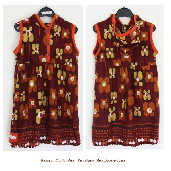 robe capuche grosse fleur maelenn 2