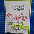 Set de tampons et dies - sentiments éternels + les poinçons edgelits - fleurs charmantes -