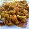 Crevette curry et noix de cajou