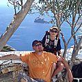 A l'ombre des lauriers (Amorgos Chora, août 2012)