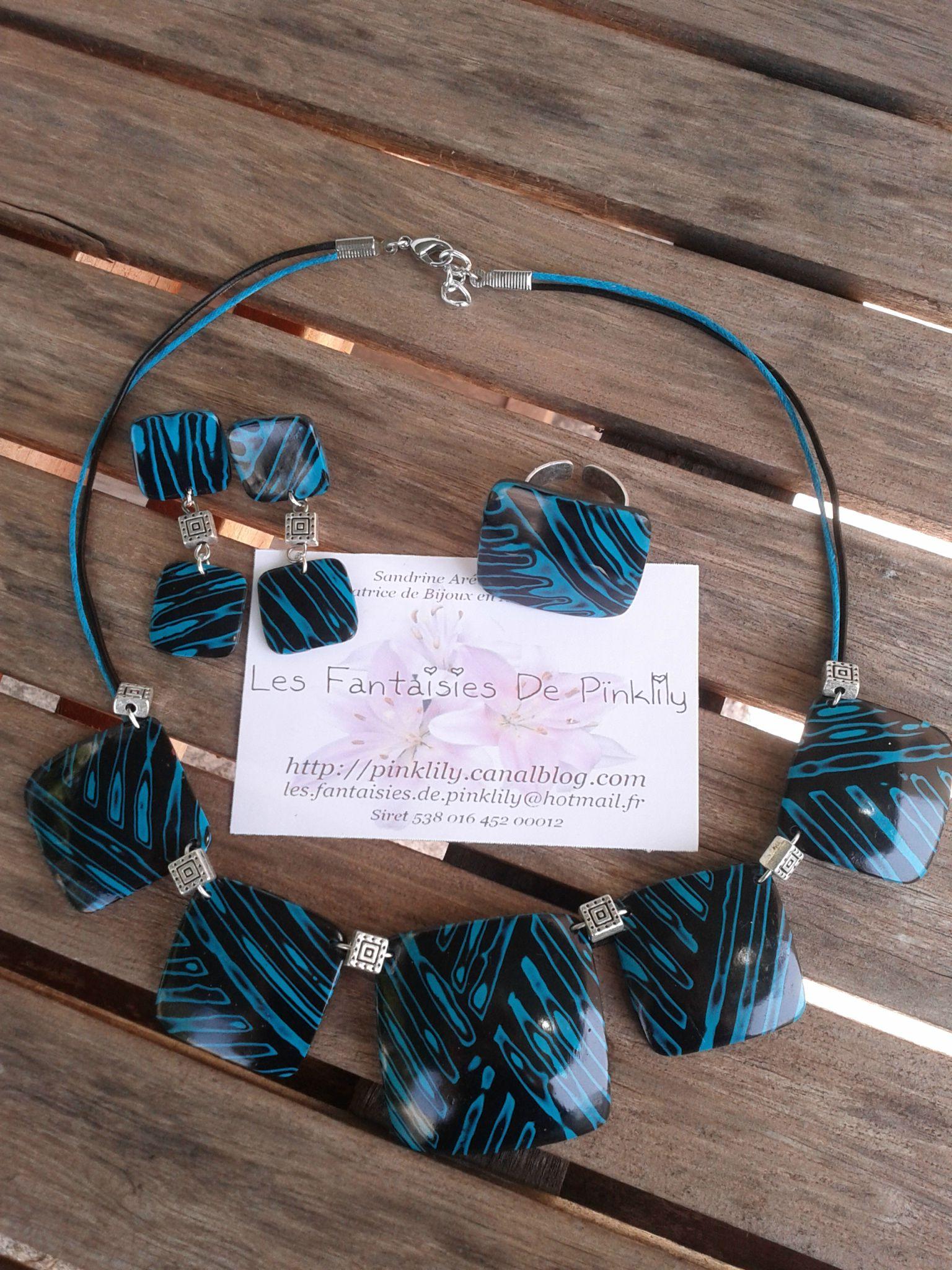 Zebra (blue), parure soldée