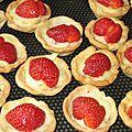 Mini tartelette fraise/crème pâtissière