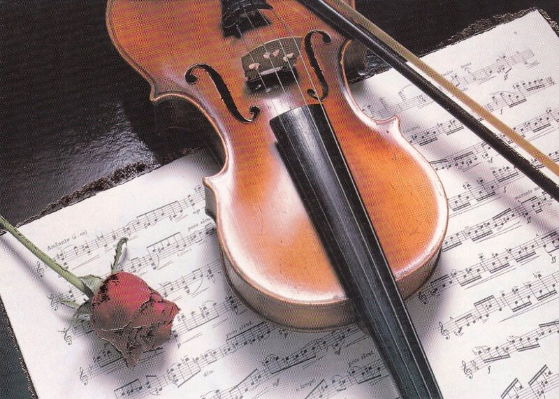 CPM Violon Partition & Rose