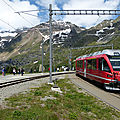 Albula, bernina : le train aux sommets