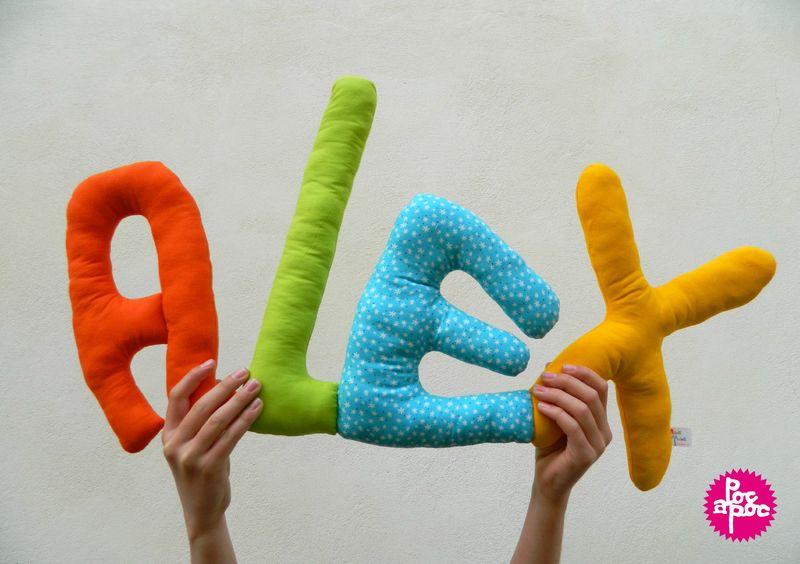 alex prenom en tissu decoration poc a poc logo