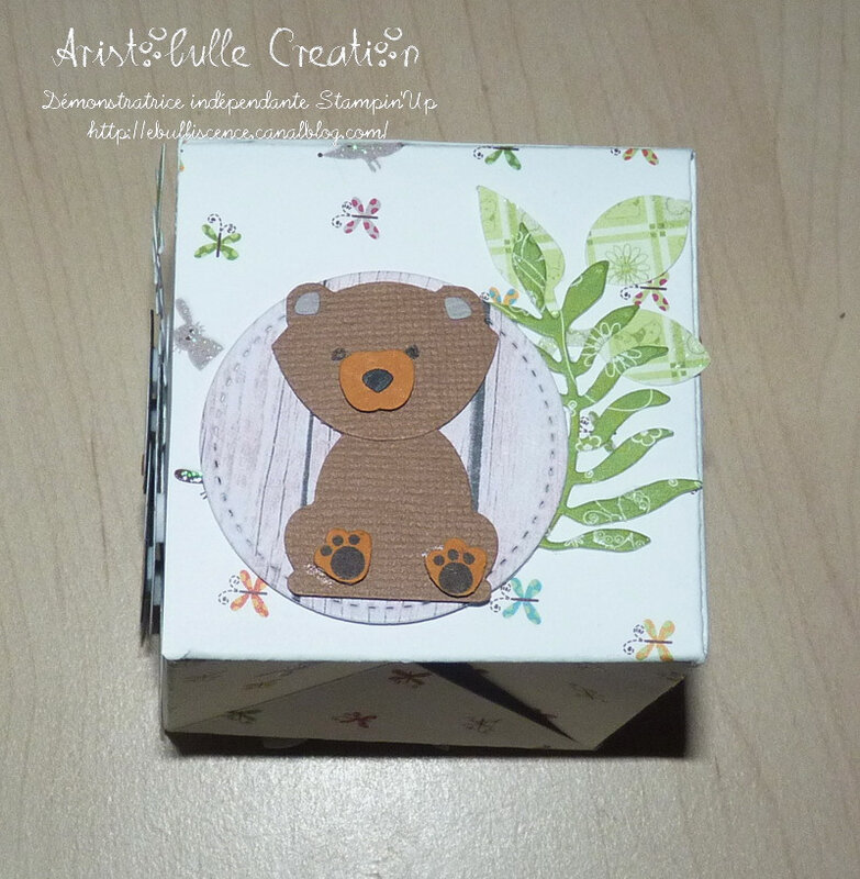 Carte cube pop up Foxy friends - face ours