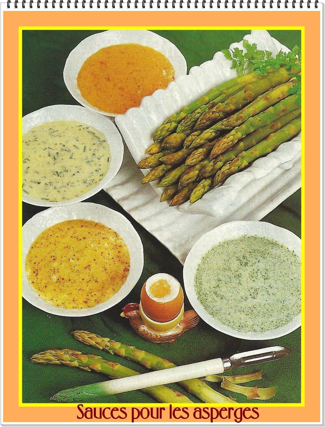 Des sauces en pagaille ! pour vos asperges ...
