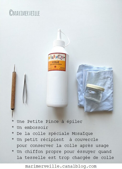 atelier micro-mosaïque fournitures 2 - ©Marimerveille