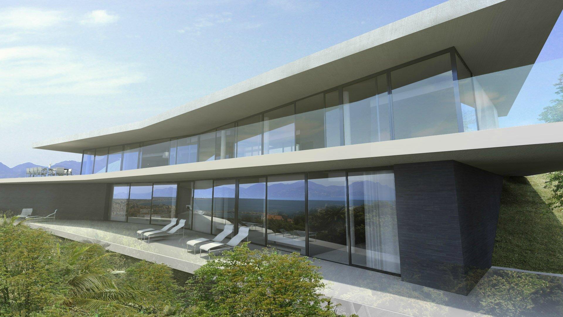 Maison contemporaine Cannes - villa-contemporaine-cote-d\'azur