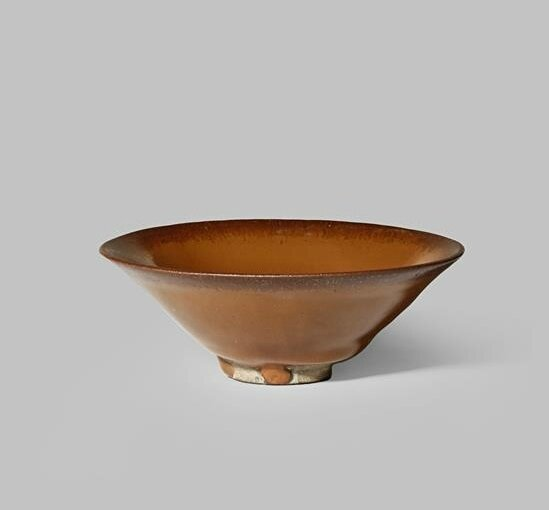 A Chinese Jianyao persimmon-glazed bowl, Song dynasty (960-1279 AD)