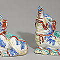 The palmela kakiemon elephants. a pair of fine and rare kakiemon elephants, edo period, late 17th century