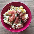 Salade de pommes de terre au jambon fumé ( 315 cal ou 8pp)