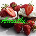Chocolate muffins with mascarpone