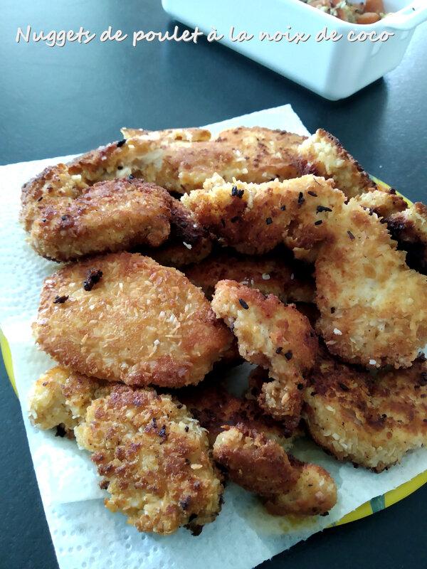 nuggets de poulet à la noix de coco