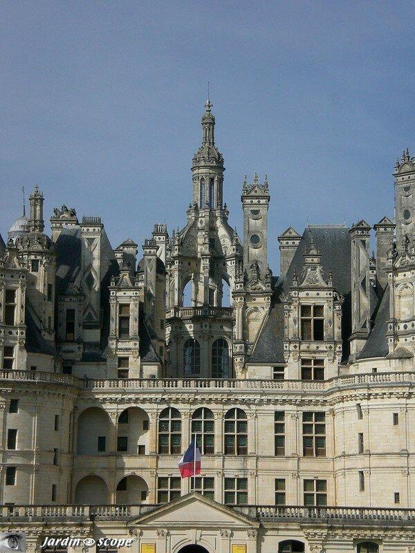 Le château de Chambord - détails de la terrasse