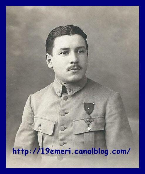 Vidieu Paul 19e RI Novembre 1917