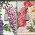 Flowers Switch plates