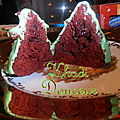 Red velvet en sapin