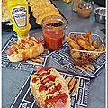 Hot dog américain maison