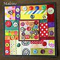 Carterie : patchwork, tissu, ruban