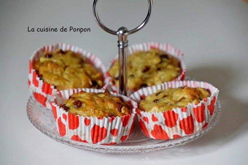 muffin flocon d'avoine banane pomme pépites (3)